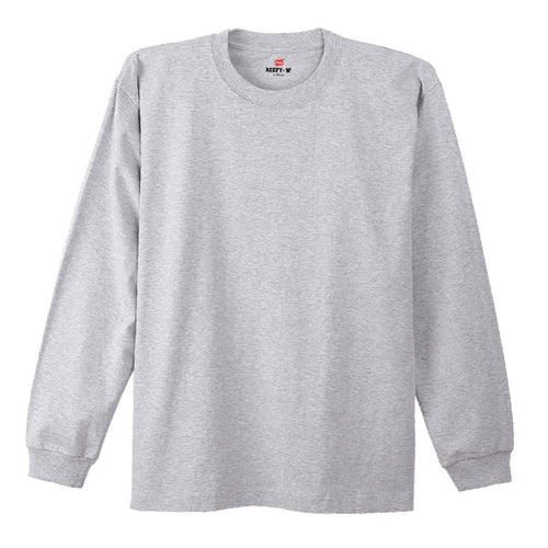Hanes Beefy Heavyweight L/S Tee Grey