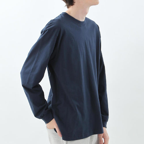 Hanes Beefy Heavyweight L/S Tee Navy