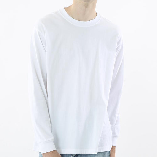 Hanes Beefy Heavyweight L/S Tee White