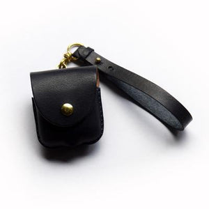 Leather Factory Roberu AirPods Case Dark Brown