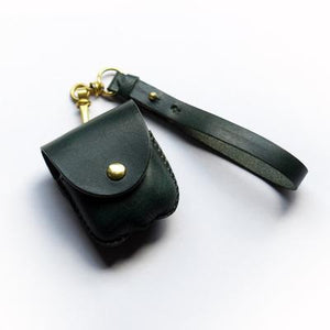 Leather Factory Roberu AirPods Case Dark Green