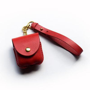 Leather Factory Roberu AirPods Case Red