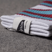 Load image into Gallery viewer, Pilgrim Surf+Supply Striped Crew Socks Blue