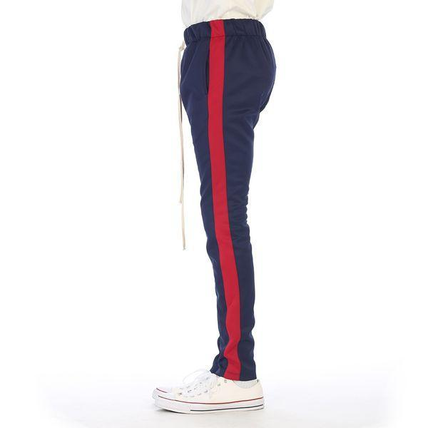Navy/ Red Track Pant