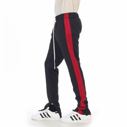 Black Red Track Pant