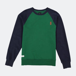 Two-Tone Sweatshirt Midnight/Forest Green
