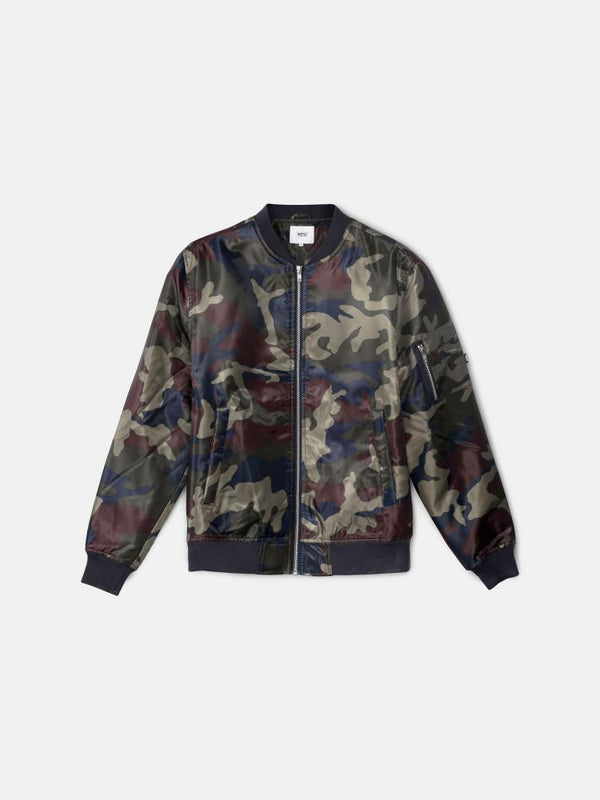 The Camo Bomber Jacket Red Port