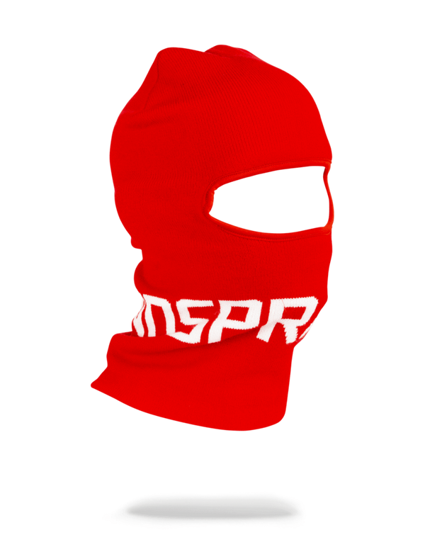 Red Sprayground Logo Ski Mask