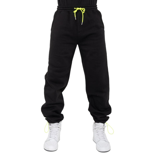 BLACK-HYPER FLEECE PANTS