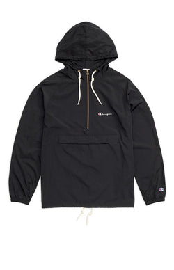 Half-Zip Through Hooded Jacket