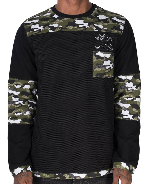 Fall Pocket LS Tee