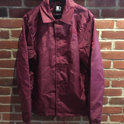 Burgundy Satin Coach Jacket