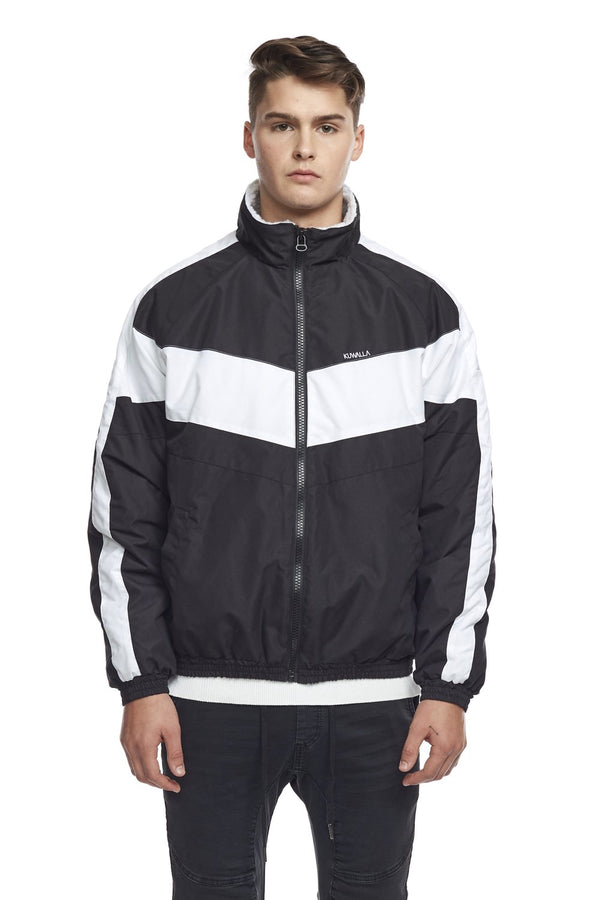 Winter Track Jacket Black/White