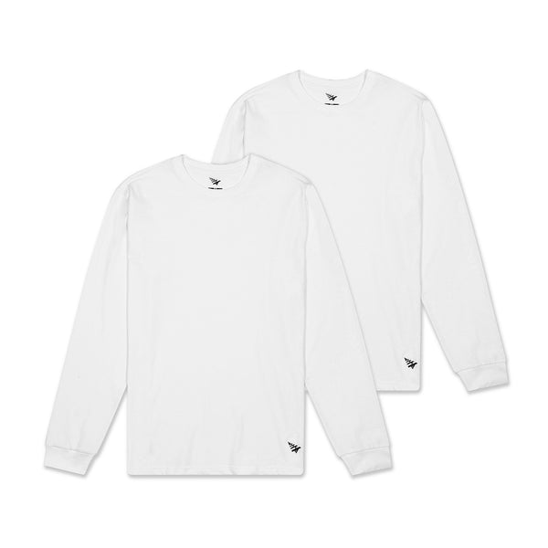 Essential 2 Pack Long Sleeve Tees White