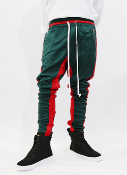 FB Track Pant Green Red
