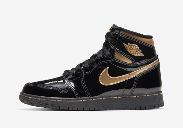 "Air Jordan 1 Retro High OG ""Black/Gold"" Patent Leather"