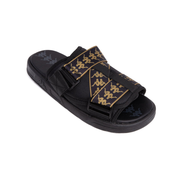 222 Banda Mitel 1 Black Gold Sandals