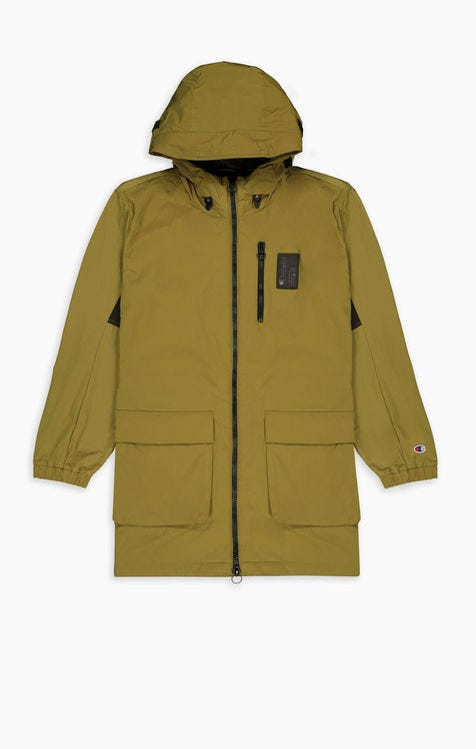 Cargo Pocket Hooded Coat