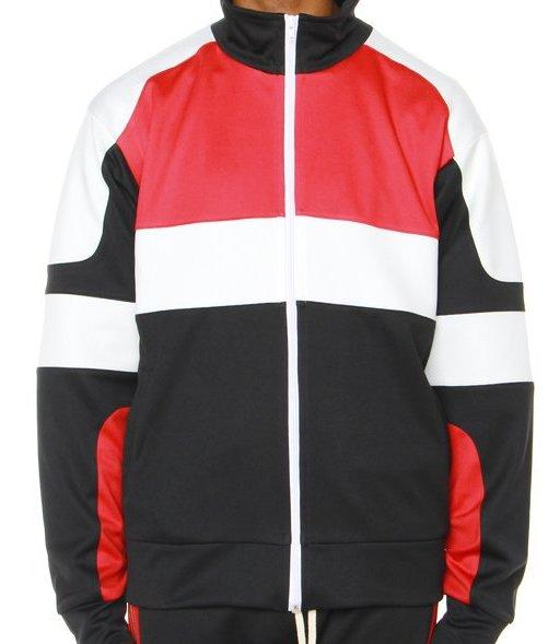 Black/Red/Off White Motocross Jacket