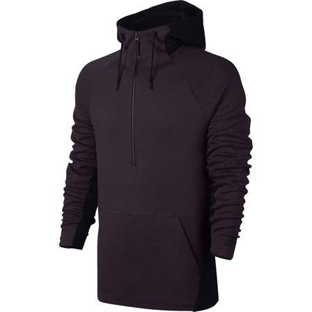 Tech Half Zip Hoodie Port Wine