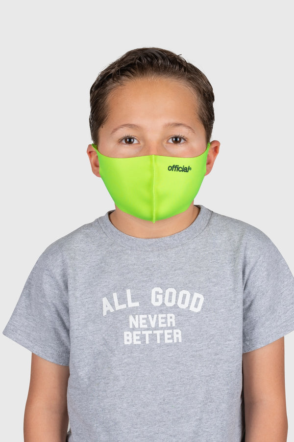 [Kids Size] Official Nano-Poly Face Mask (Volt)