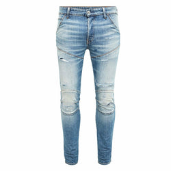 5620 3D Slim Worn In Ripped Blue Denim Jeans