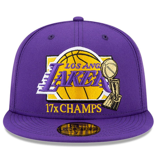 Los Angeles Lakers 2020 NBA Finals Multi Champs Trophy 59FIFTY Fitted Hat