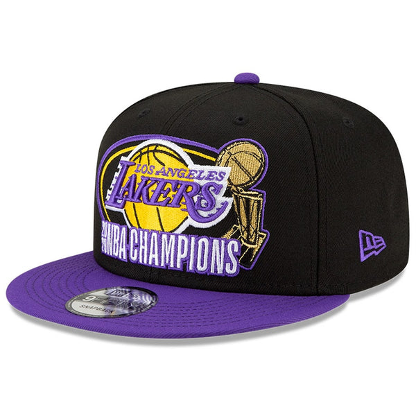 Los Angeles Lakers Black 2020 NBA Finals Champions Title Trophy 9FIFTY Snapback Hat