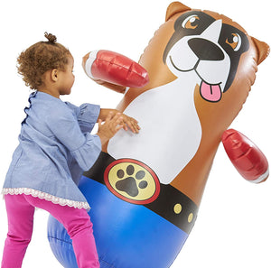 Taylor Toy Inflatable Punching Bag for Kids - Free-Standing Bounce Back Punching Bag - Bop Bag (Dog)