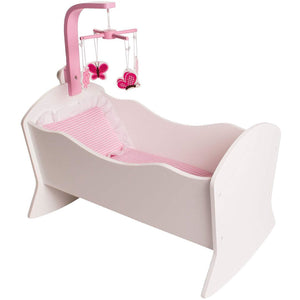 Eimmie 18 Inch Doll Furniture 18 Inch Doll Furniture Cradle Set w/ Mobile and Bedding Accessories