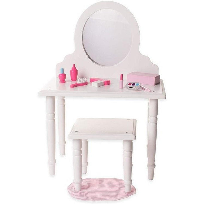 18 Inch Doll Furniture - Make Up Vanity and Stool Set