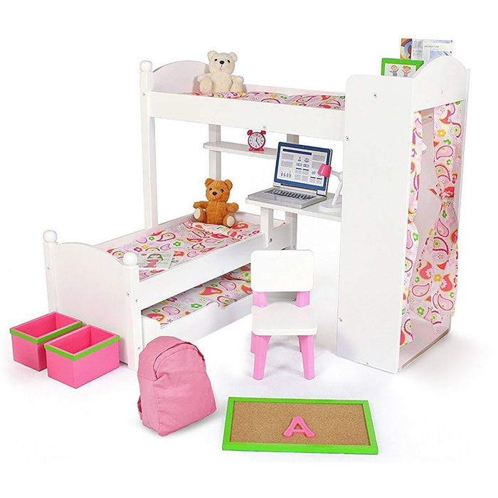 18 inch Doll Furniture - Bunk Bed Set