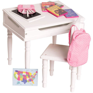 Eimmie 18 Inch Doll Furniture Playtime by Eimmie 18 Inch Doll Furniture Desk and Chair Set w/ 12 Accessories