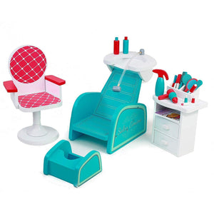 Eimmie 18 Inch Doll Furniture Playtime by Eimmie 18 Inch Doll Hair Salon and Nail Spa Set w/ 16 Accessories