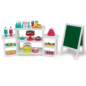 Eimmie 18 Inch Doll Furniture Playtime by Eimmie Doll Food & Bakery Set w/ 50+ Bakery Accessories