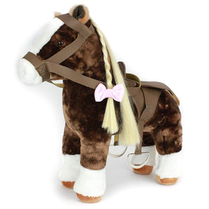 "Eimmie 18 Inch Doll Horse Eimmie Plush Horse Doll with Saddle for 18"" Dolls w/ Brushable Tail and Mane"