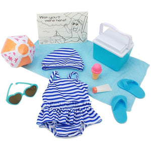 "Eimmie Club Eimmie 18"" Doll Clothing Playtime Packs - Doll Accessories, Doll Shoes, and Doll Clothes - Summertime Doll Outfit"