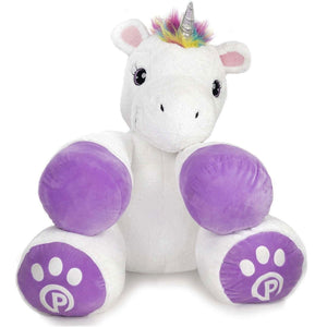 "Plushible.com ""Poppy"" Stuffed Unicorn Toy 34"" Tall"