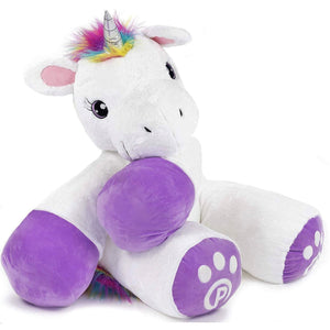 "Plushible.com ""Poppy"" Stuffed Unicorn Toy 44"" Tall"