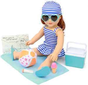 18 Inch Doll Clothing - Summer Beach Outfit
