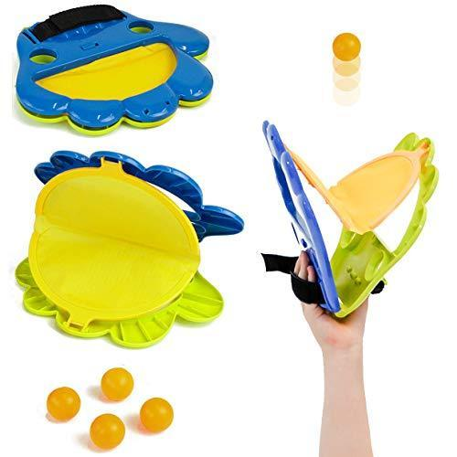 Taylor Toy Pop and Catch Indoor/Outdoor Hand Ping-Pong Launcher - Indoor, Backyard & Beach Game - Kids Catch Game