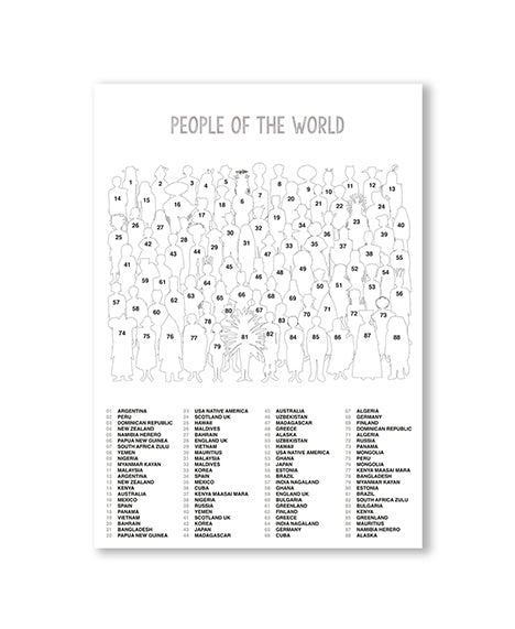 Emma Cooter Draws People of the World 500 Piece Jigsaw Puzzle