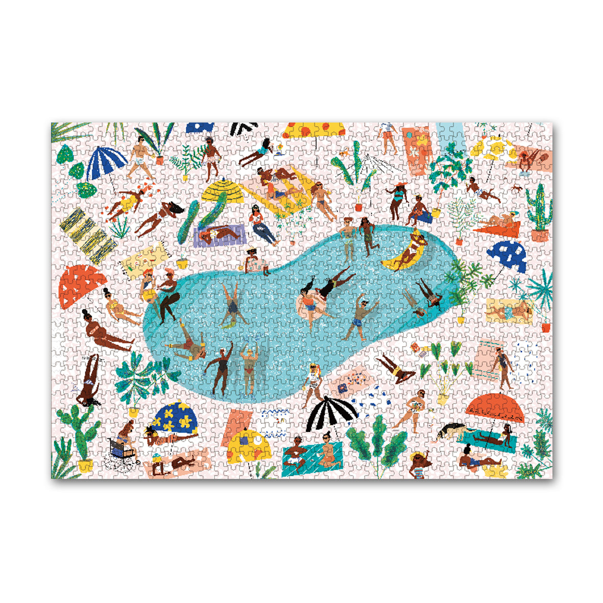 Carolyn Suzuki Pool Party 1000 Piece Jigsaw Puzzle