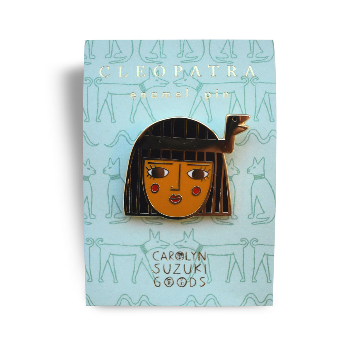 Carolyn Suzuki Cleopatra Pin Badge -