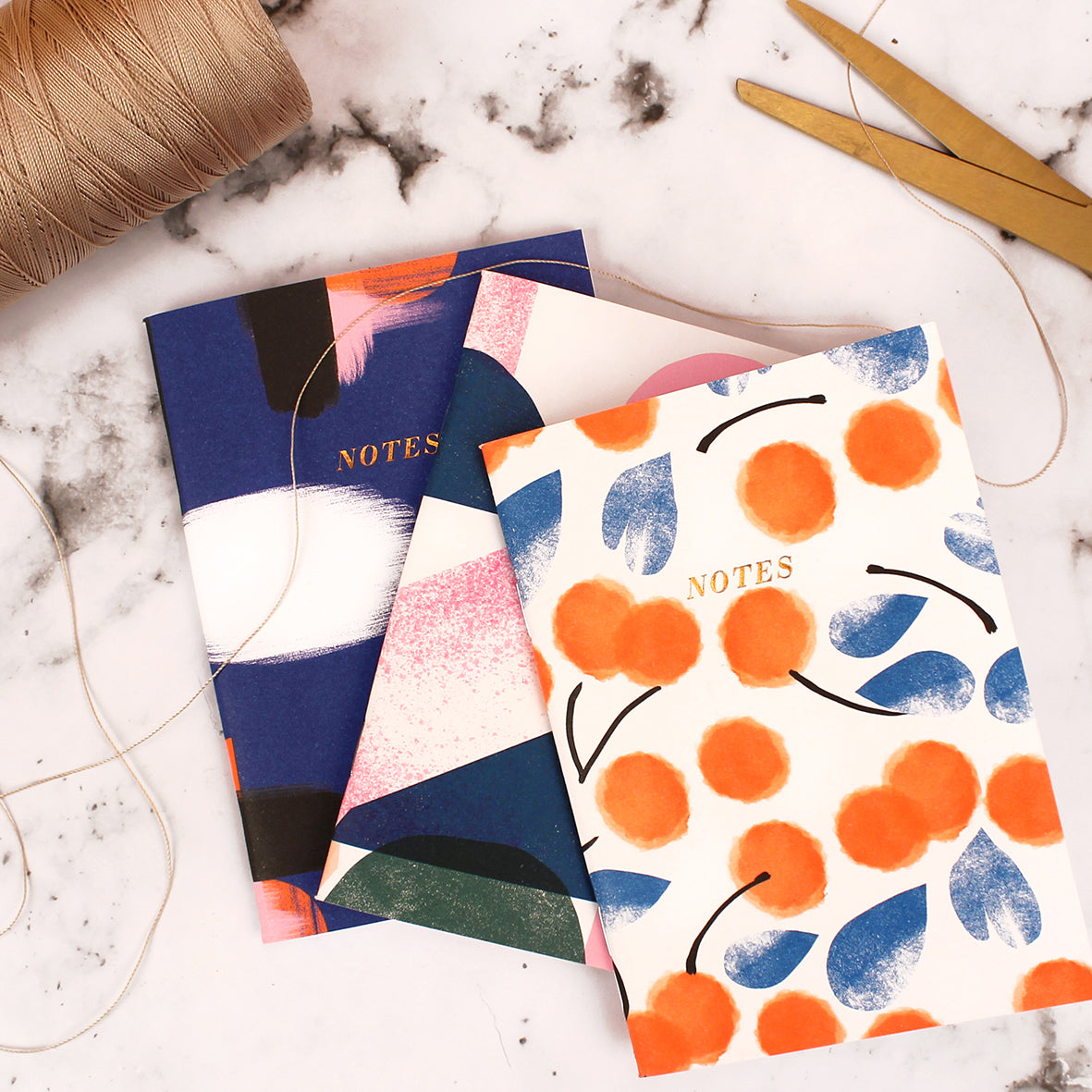 Darling Clementine Set of 3 A6 Canterbury Notebooks