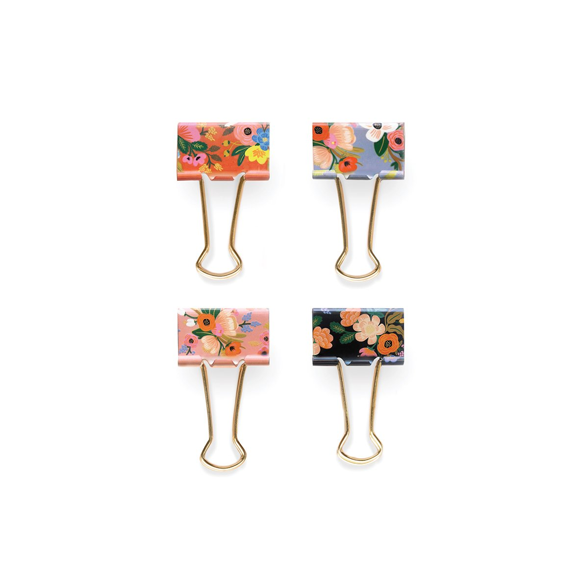 RIFLE PAPER CO LIVELY FLORAL BINDER CLIPS