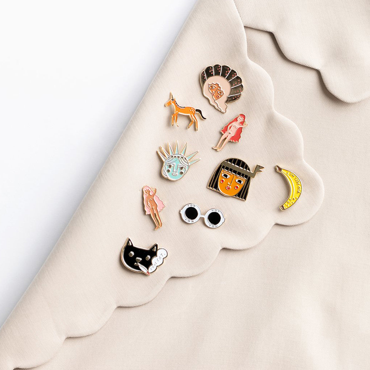 Carolyn Suzuki Unicorn Pin Badge -