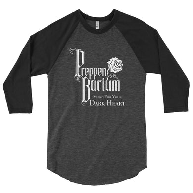 "American Apparel Preppen Barium ""Music For Your Dark Heart"" 3/4 Sleeve Raglan Shirt"