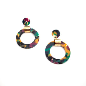 Tropical Mimosas Drop Earrings