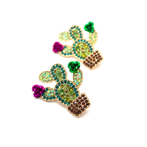 Bloomed Cactus Earrings